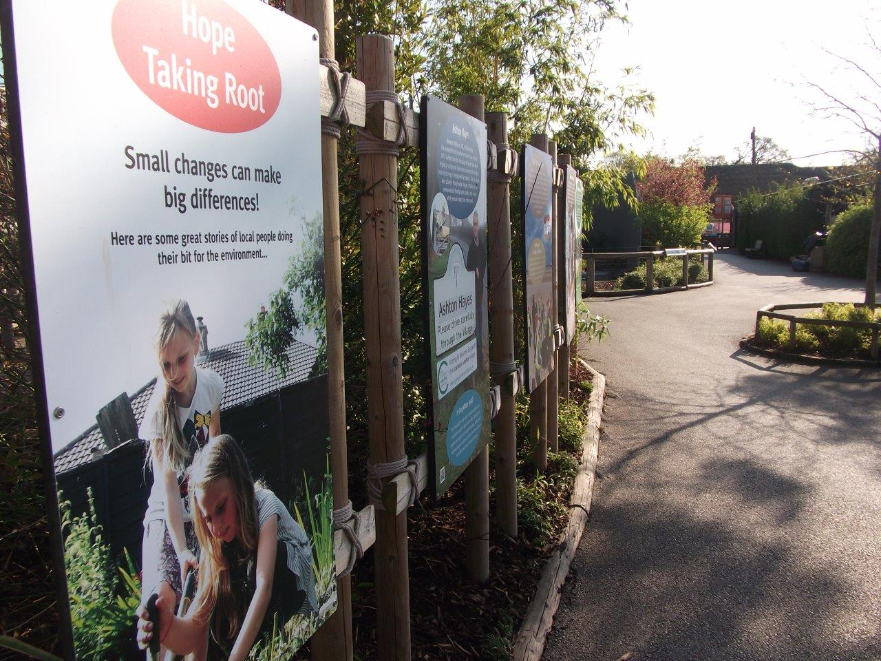 Stokbord recycled plastic board used at Chester Zoo