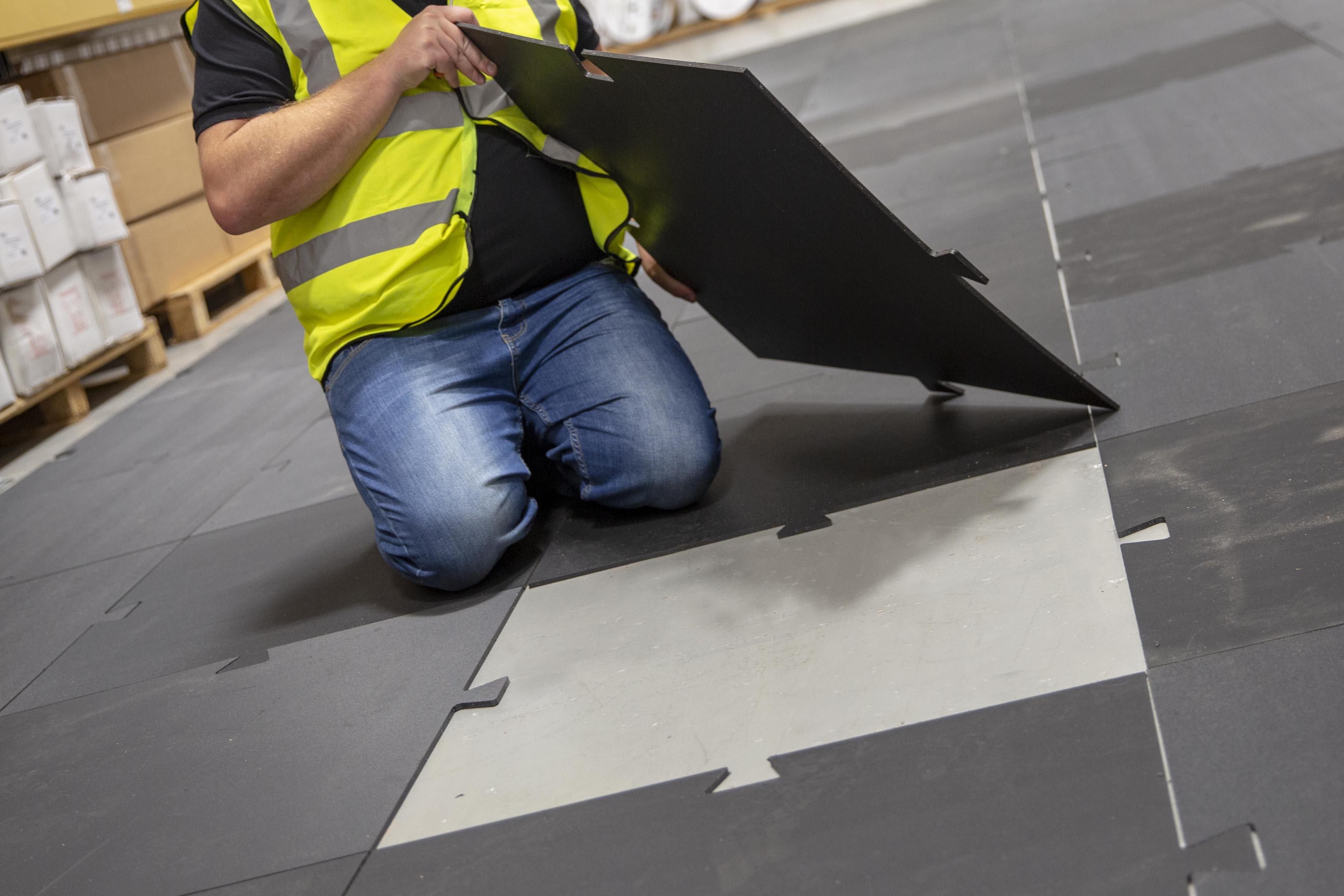 Stokbord floor shield installation