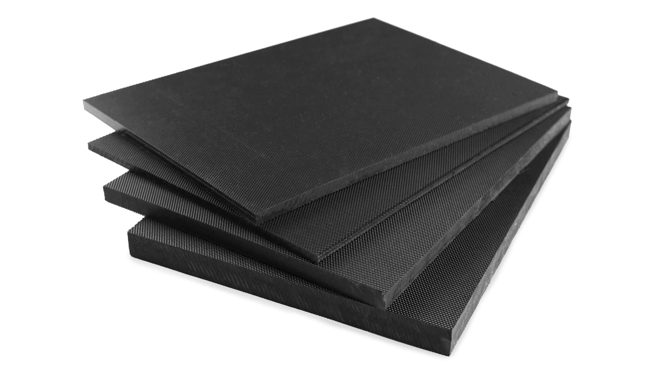 stokbord sheet in black thicknesses
