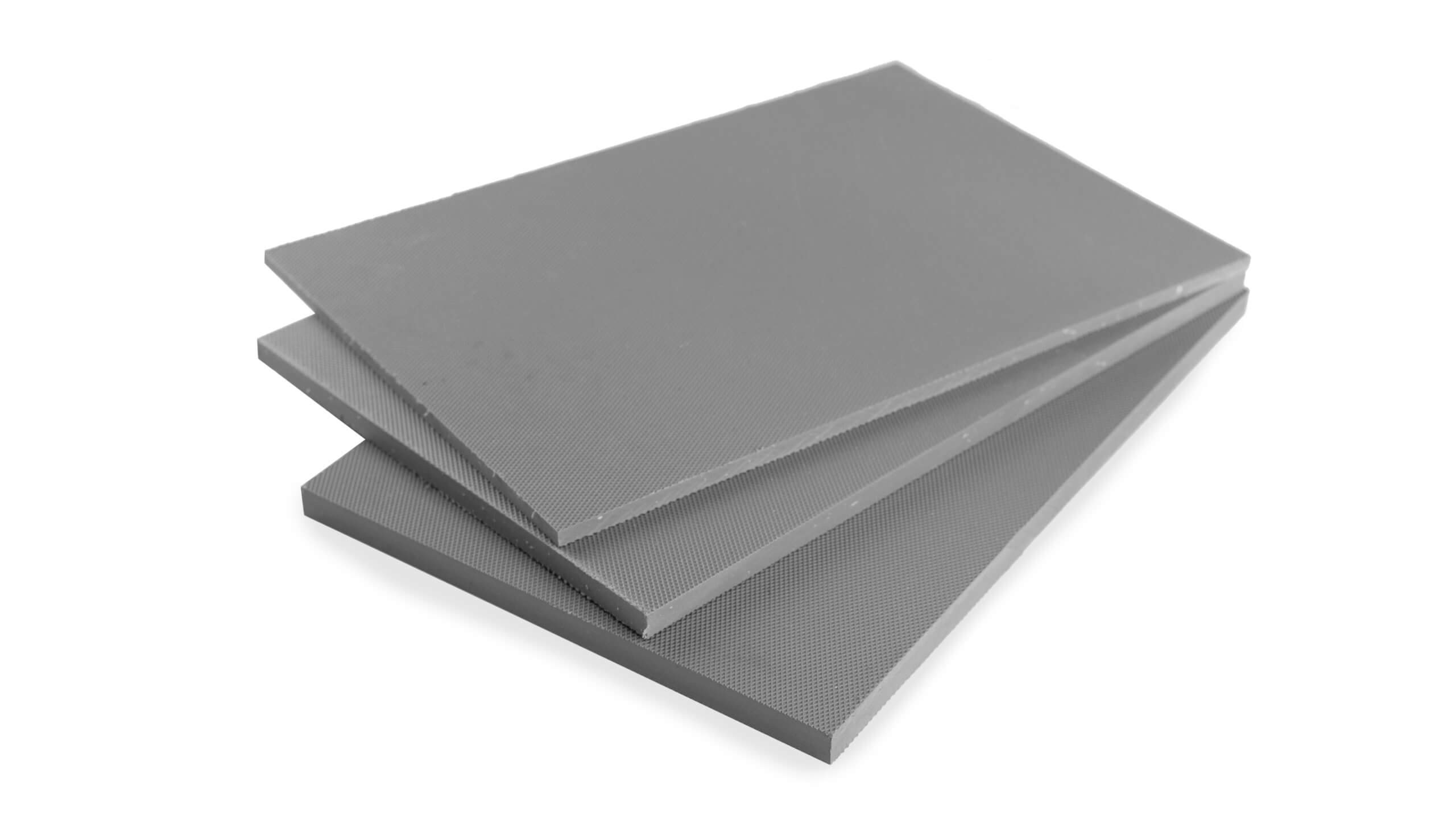 stokbord sheet in grey thicknesses