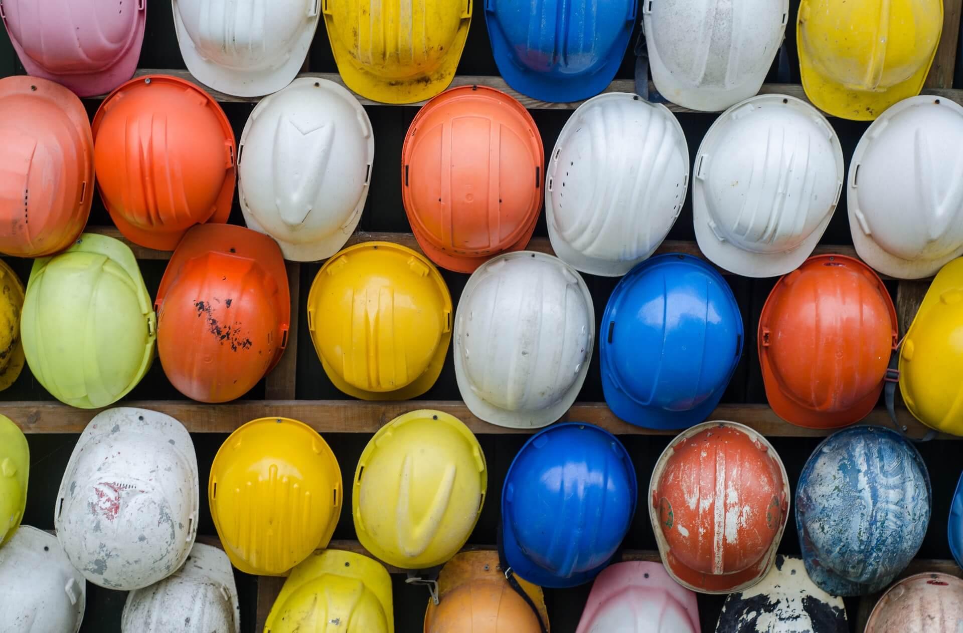 construction hard hats